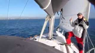 Light wind sea trial during a survey of a 2008 Beneteau Oceanis 37