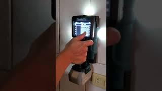 Makita牆體探測WD181(磁磚表面-內混凝土)帶電PVC管測試