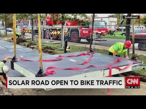 Solar bike path opens in the Netherlands