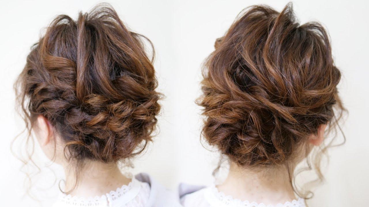 ☆編み込みシニヨンのヘアアレンジ!ロープ編み込みだけでできます。ベース巻き5本!Hair styling Hair ...