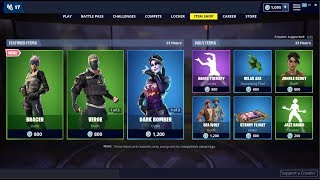 New-Bracer Skin - Dark Bomber Back! Fortnite Item Shop 15 mai 2019