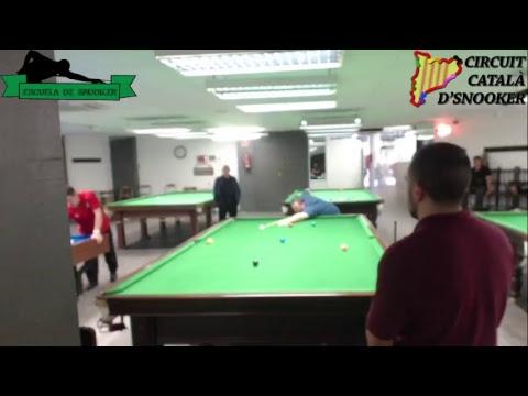 Dani Soler VS Marius Petrea (Circuit Català d'Snooker 2017/18 Primer torneo de ranking)