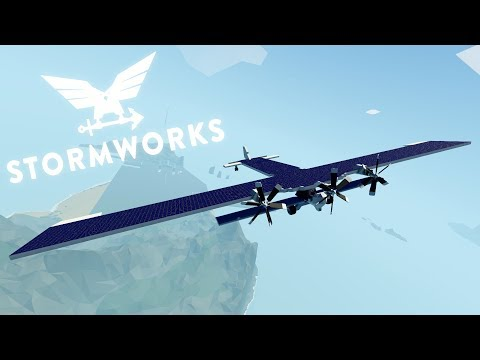 Final Attempt!  -  Solar Plane V3 -   Stormworks: Build and Rescue  -  2