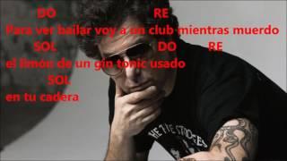 Mi Gin Tonic de Andrés Calamaro - Acordes con Musica y Letra