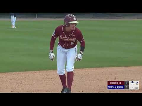 FSU Softball vs South Alabama 2018 Game 1