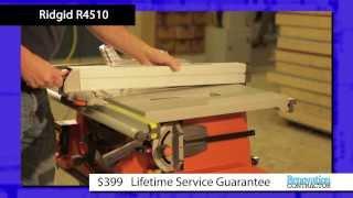 Renovation Contractor Table Saw Tool Test - Ridgid R4510