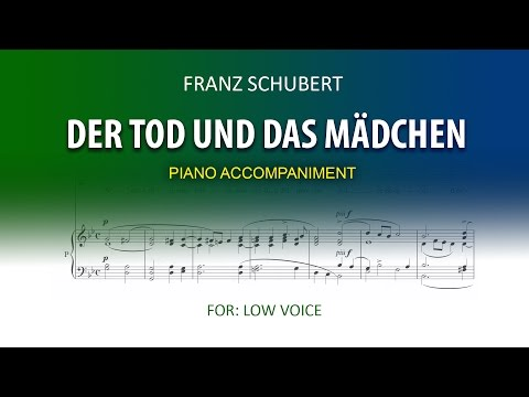 Der Tod und das Mädchen  Schubert   Karaoke piano