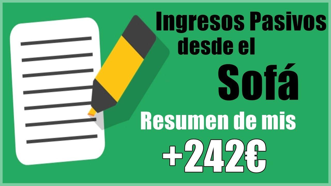 Resumen de Inversiones PASIVAS +242€ [Agosto 2020 + Indexa]