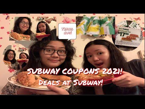 SUBWAY COUPONS 2021! DEALS AT SUBWAY!
