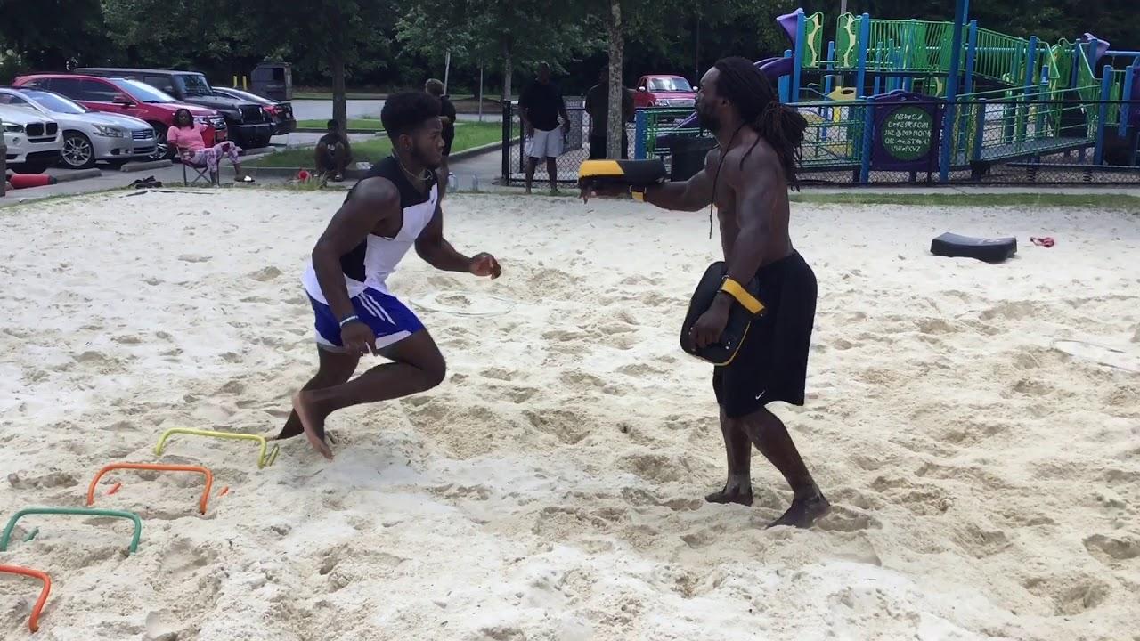 MWHSports | Cole Nelson #99 Johns Creek High School | Sand Pit Training