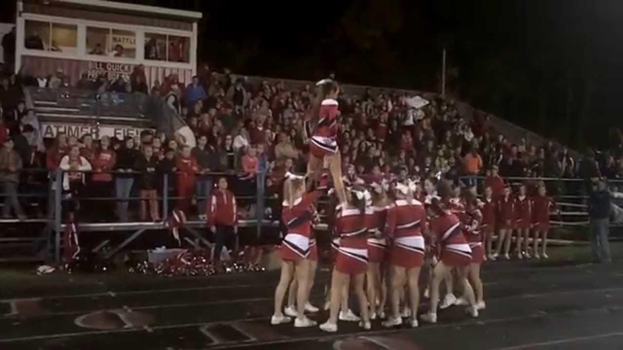 Iroquois High School Cheerleading 2014 Homecoming Youtube
