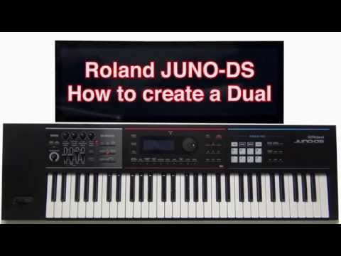 Roland Juno-DS - How to create a Dual layer
