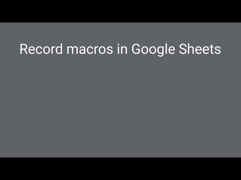 How to Automate Repetitive Tasks in Google Sheets With Macros