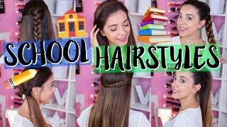 6 ACCONCIATURE PER LA SCUOLA | BACK TO SCHOOL HAIRSTYLES | Vanessa Ziletti
