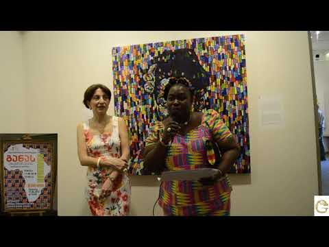 Eudosia Andoh at Ghanaian Artists Exhibition In Tbilisi, Georgia