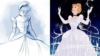 How To Draw Cinderella | Quick Draw | Disney LIVE