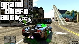 GTA 5 ONLINE A Staircase To Heaven v2 ( Fun Custom Race ) GTA V MULTIPLAYER