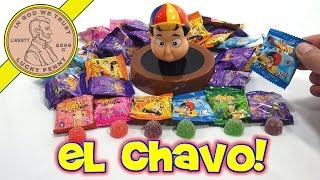 eL Chavo Gummy Candy Kiko Barrel Bank - Mexican Candy Sampler