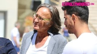 Mohamed Hadid, Anwar Hadid & Shiva Safai Spotted In Beverly Hills 4.19.15 - TheHollywoodFix.com