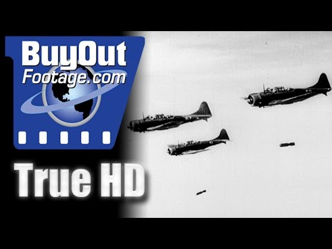 December 7th, 1941 - Japanese Attack Hawaii Historic HD Footage