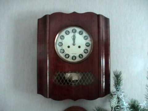 Настенные часы с маятником - YouTube