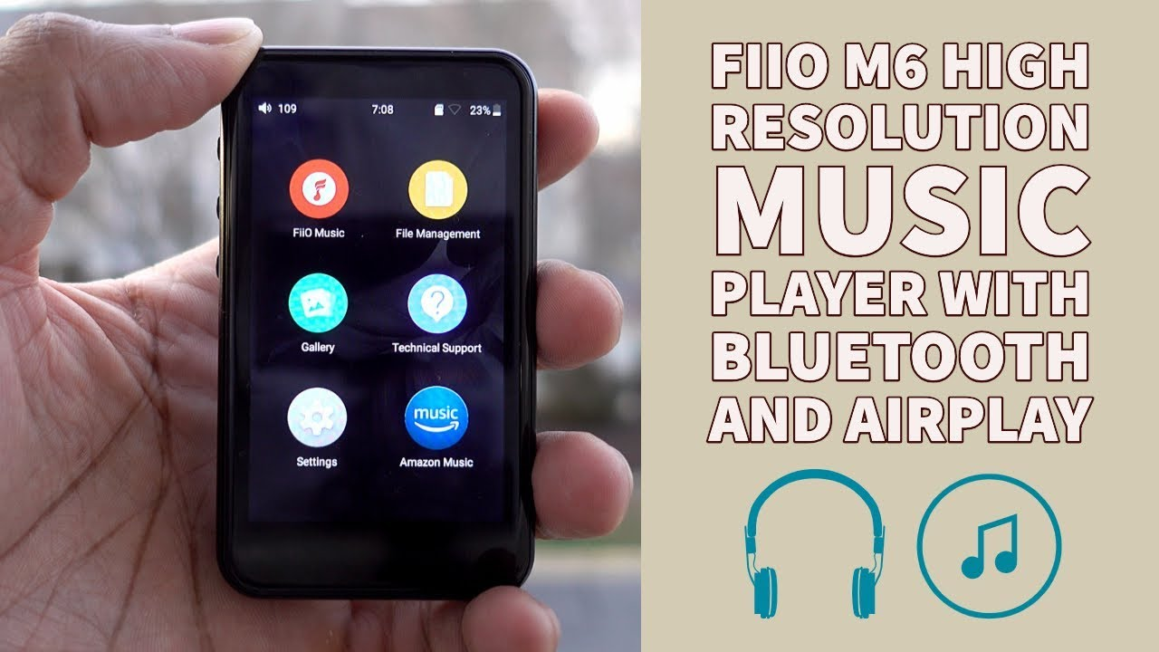 Fiio M6 High Resolution Music Player With Touchscreen Bluetooth And Airplay