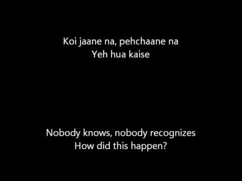 Dooba Dooba rehta hoon Lyrics   English Translation