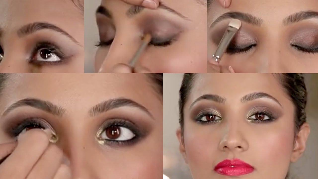 Auburn Smokey Eye Makeup Look Indian Bridal Makeup Tutorial Part