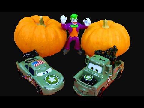 Disney Pixar Cars Army Lightning McQueen u0026 Mater HALLOWEEN Costume Party Joker Batman Imaginext & Disney Pixar Cars Army Lightning McQueen u0026 Mater HALLOWEEN Costume ...