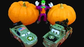Disney Pixar Cars Army Lightning McQueen & Mater HALLOWEEN Costume Party Joker Batman Imaginext