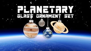 Planetary Glass Ornament Set from ThinkGeek