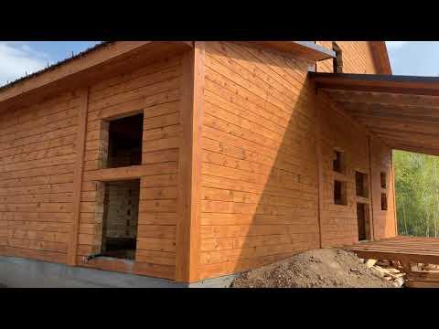 Сруб Дома 8 на 9 м плюс гараж по индивидуальному заказу