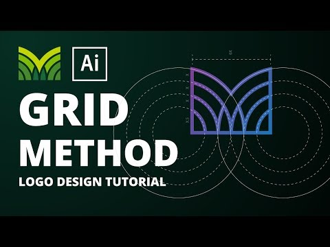 MV Logo Tutorial Using the Grid Method  | Adobe Illustrator CC thumbnail