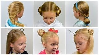 HALLOWEEN 🕸 TOP 6 SIMPLE AND BEAUTIFUL Halloween Hairstyles 🕸 Collection of Hairstyles #10