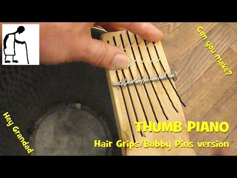 Thumb Piano with hair grips/bobby pins