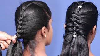 Beautiful Open Hairstyle For Long Hair Girls   Very Easy Hairstyles Using Trick   Hair Style Girl