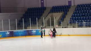 Уроки фигурного катания Элина Ким 01.11.16