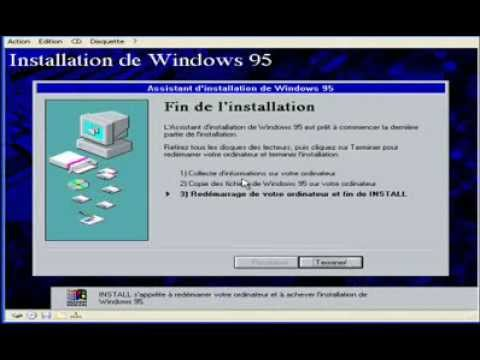 Comment installer windows 95 avec lien sur virtual pc for Windows 95 iso