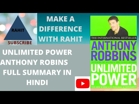 Unlimited Power | TONY ROBBINS | (Anthony Robbins) Book Summary Full Review | INSPIRATIONAL STORY |