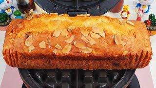 Waffle Iron vs pound cake 와플기계로 파운드 케이크 누르기 #Shorts