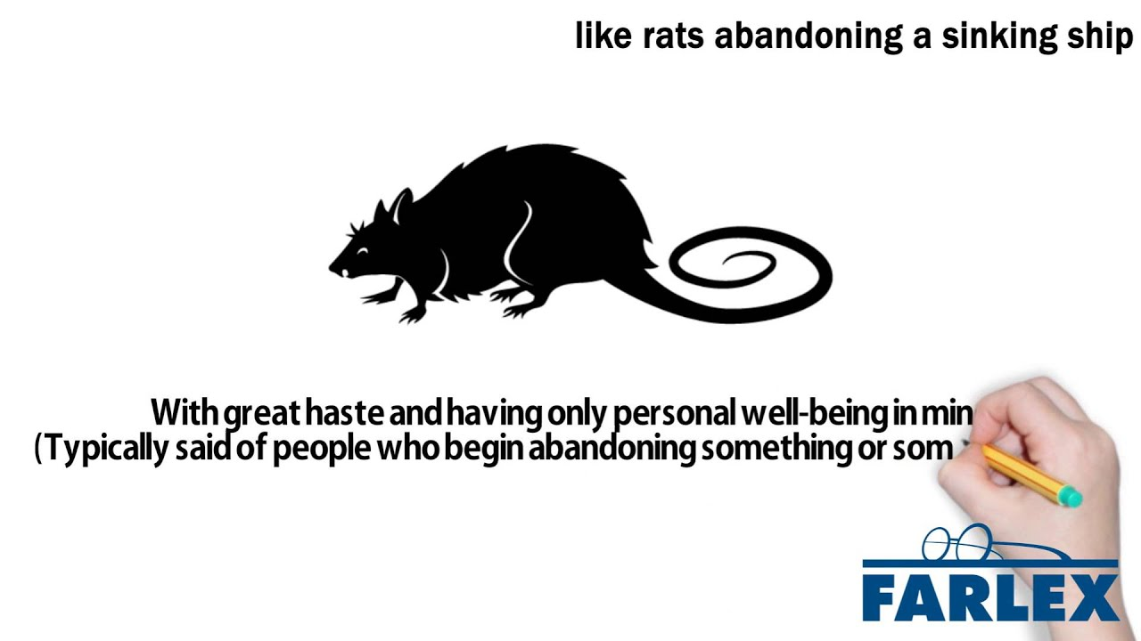 Like rats abandoning a sinking ship - Idioms by The Free