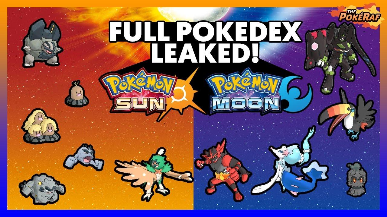 ENTIRE POKEDEX LEAKED! All NEW Pokémon and Alola Forms in Pokémon ...