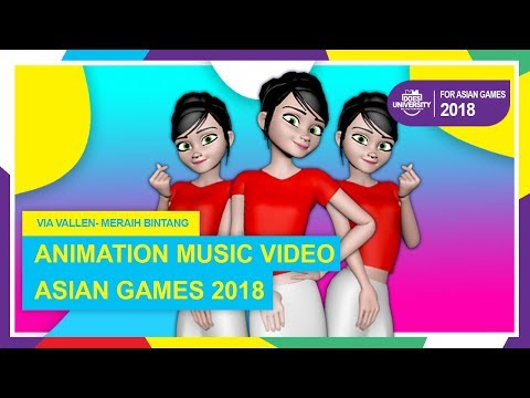 MERAIH BINTANG - VIA VALLEN (Animation Music Video ASIAN GAMES 2018)