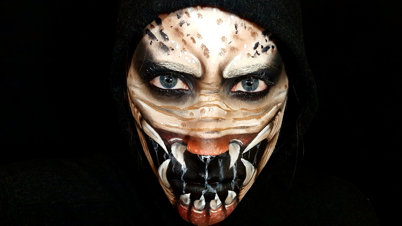 Predator Face Paint! - YouTube