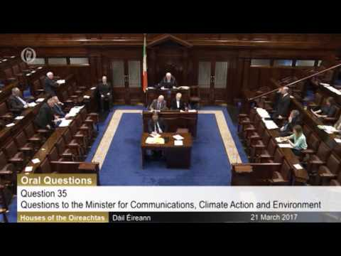 Questions to Minister of Communications, Climate Change & Environment- Sliabh Ban Windfarm