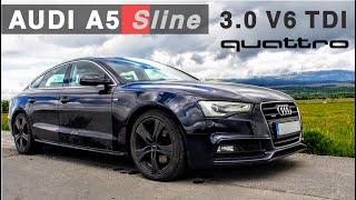 H A S Z N Á L T T E S Z T: 2014 #Audi A5 Sline 3.0 V6 TDI #quattro 245 HP 500 Nm Stronic - #pov test