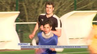 Portrait : Fabien Witz, du SQY Rugby à l'équipe nationale jeune