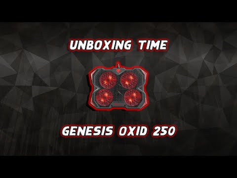First Unboxing - Genesis Oxid 250 Cooling Pad