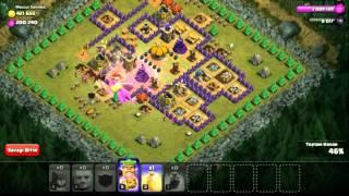 Clash of Clans Mega Malikane Düşük Askerlerle :)