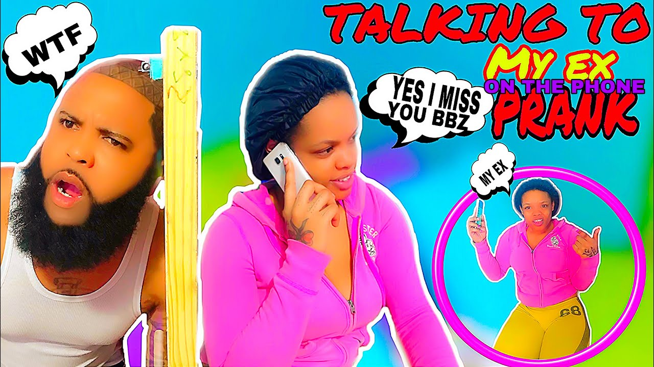 TALKING TO MY EX ON THE PHONE PRANK ON BOYFRIEND**must